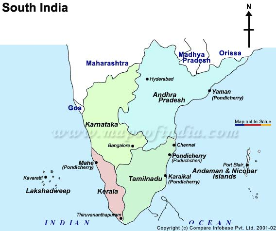 south india map with tourist places South India Map south india map with tourist places